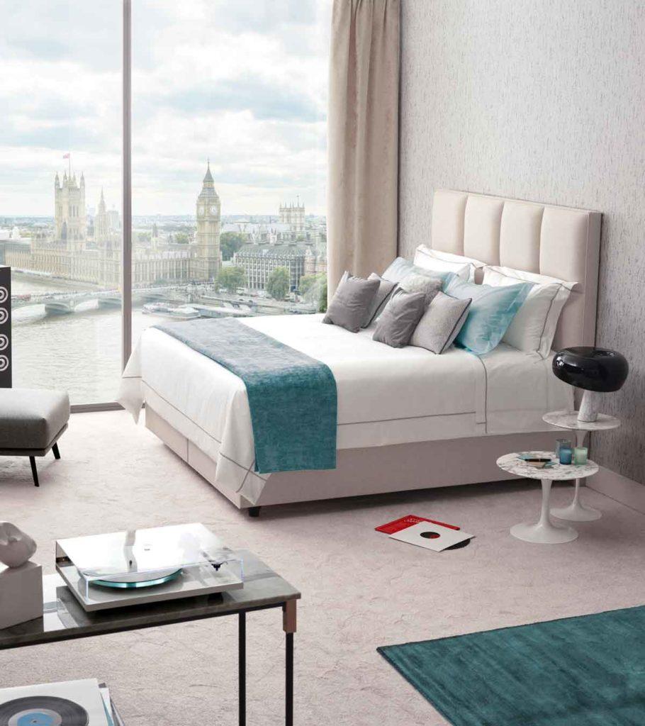 vispring eco-friendly mattress white green 米色床褥 白色床墊