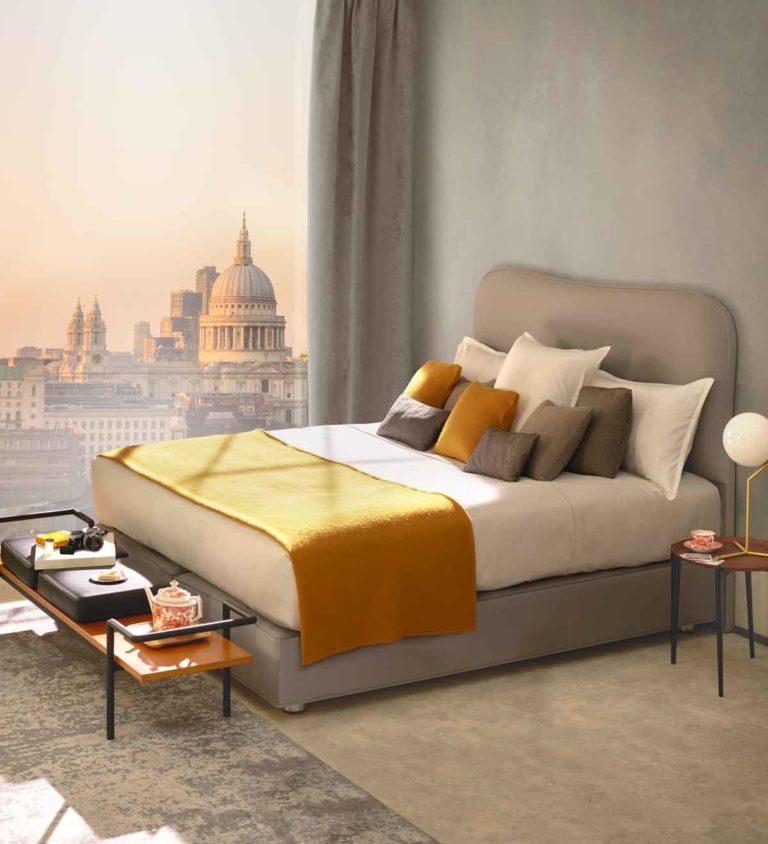 vispring eco-friendly mattress yellow grey 灰色床褥 白色床墊