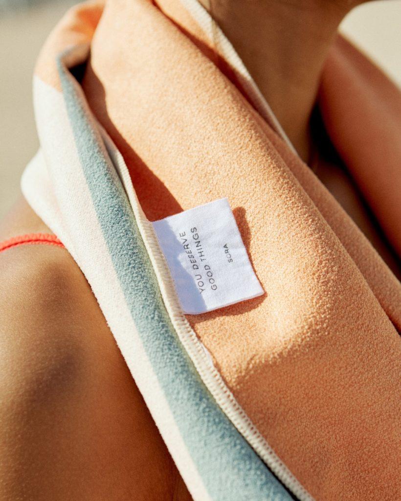 sora towel label