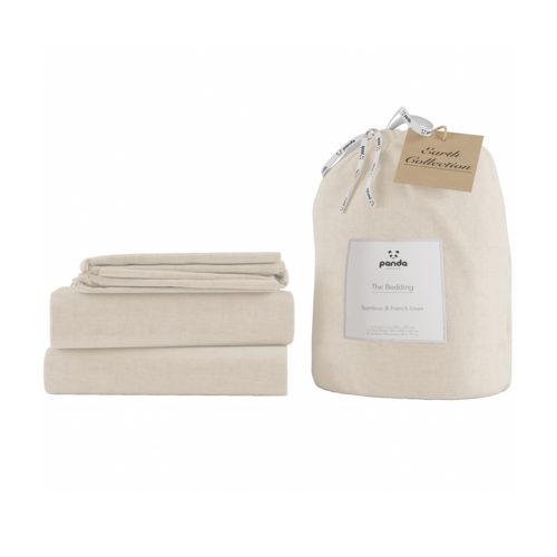 panda london bamboo bedding bed linen eco friendly bed sheet colour beige
